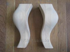 Гнутые резные ножки опоры из дерева для пуфика