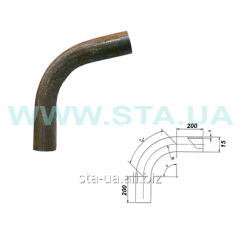 Branch bent GOST 3262-76, steel with a carving of