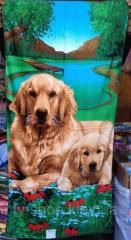 """Полотенце пляжное """"Dog family"""""""