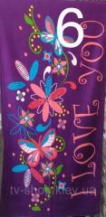 Полотенце Люблю тебя, 75х150 см( Турция)