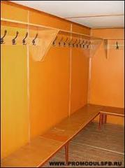 Benches for locker rooms with hangers