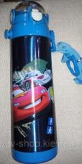 Термос с трубочкой Тачки, 500 мл