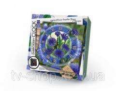"""Комплект для творчества """"Embroidery clock""""Часы с котиком"""