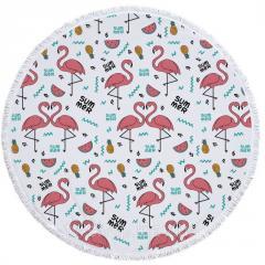 Коврик для пляжа Фламинго Summer,150 см