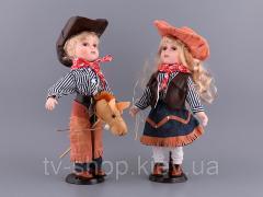 Набор кукол фарфоровых Ковбои (41 см)