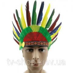 Шапка индейца из перьев