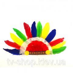Шапка индейца из перьев детская