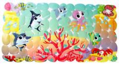 Защитный коврик в ванну Морские жители, 68.5 x 35