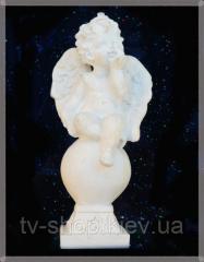 Ангел на шаре статуетка, 16 см
