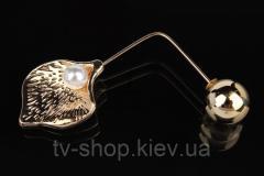 Брошь Ракушка (золото, серебро)