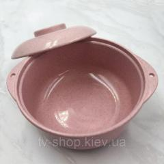 Eco тарелка 2 в 1 Simple (розовая, зеленая)
