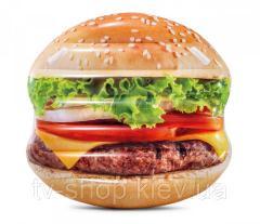 """Матрас надувной """"Гамбургер"""" Intex,145х142 см"""