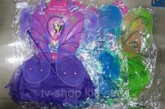 Крылья карнавальные 4 в 1 Бабочка со стразами (голубая,зеленая)