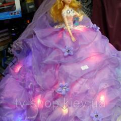 """Кукла """"Невеста"""" в пышном платье на подставке, с подсветкой,50 см"""