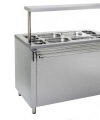 Food warmer for desktop dishes from stainless