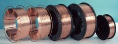 Wire copperplated welding brands according to GOST