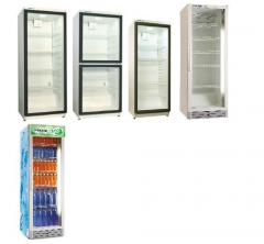 Cases refrigerating cases, trade with glass doors,