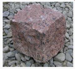 Stone blocks 10kh10kh10sm chipped