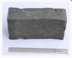 Stone blocks of 10х10х20 cm sawn and chipped