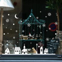 Новогодние наклейки для оформления окон, витрин