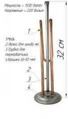 ТЭН изогнутой формы для бойлера,  1500w , с...
