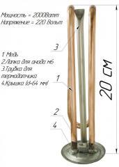 ТЭН изогнутой формы для бойлера,  2000w , с...