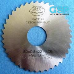 Mills grooving on GSP DIN 1838 B HSS/DMo5 metal