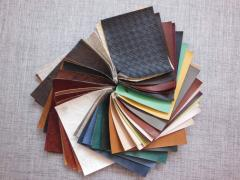 Leather substitutes (kozhza) just for decoration,