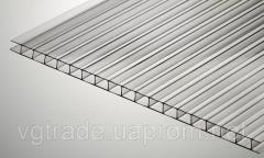 Поликарбонат сотовый янтарь 4 мм