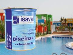 Paint for pools on the basis of paravar is