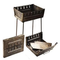 Мангал-чемодан на 6 шампуров 37*27*5см УК-М6