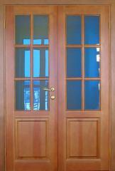 Двери межкомнатные двойные деревянные, материал