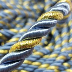 Декоративный шнур для натяжных потолков, ГОЛУБОЙ С ЗОЛОТОМ 10 мм (6-ЮА-0003)