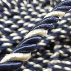 Декоративный шнур для натяжных потолков, СИНИЙ С СЕРЕБРОМ 10 мм (6-ЮА-0009)