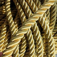 Декоративный шнур для натяжных потолков, ЗОЛОТОЙ 10 мм (6-ЮА-0004)