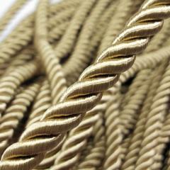 Декоративный шнур для натяжных потолков, БЕЖЕВЫЙ №9 10 мм (6-ЮА-0001)