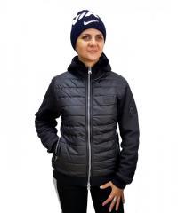 Женская трикотажная толстовка-куртка на меху...