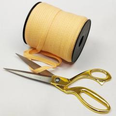 Персиковая хб киперная лента 1 см на отрез кратно 1 м. (6-БК-708)