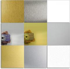 Anodized aluminum for sublimation