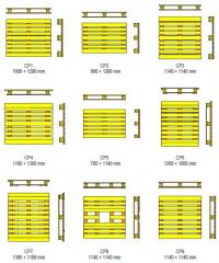 Pallets Pallets CP1, CP2, CP3, CP4, CP5, CP6, CP7,