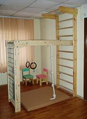 Wooden complex folding sports corner