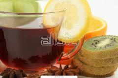 Tea composite flavored with aroma of exotic fruit