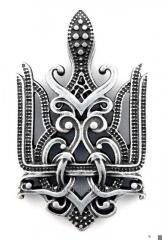 Кулон Тризуб Королівський , ювелірний сплав Цам,