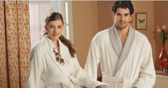 Bathing textiles. Terry dressing gowns, towels and