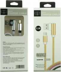 USB кабель DEX Quick Charge 2.1A Elastic Type-C