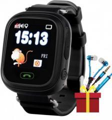 ✓Смарт-часы UWatch Q90 Black детские Кнопка SOS