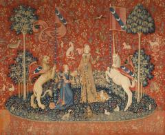 Гобелен La Dame à la Licorne : le Goût (Дама и