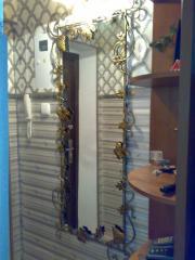 Зеркало в прихожую,Кованая рамка для зеркала