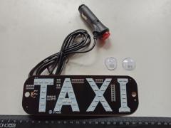 """Знак """"ТАКСИ"""" светодиодный в салон с переключателем - красный/зеленый"""