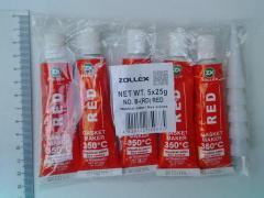 Герметик Zollex красный, малый (25г.)(уп-ка из 5шт.) без запаха